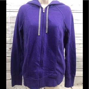 Victoria Secret hooded zip jacket thumb holes Sz M